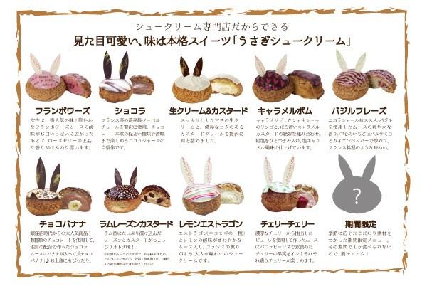 ウサギシュークリームラムレーズン3