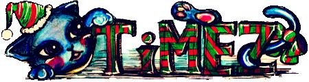 TiMEZロゴ 小林さん クリスマス猫