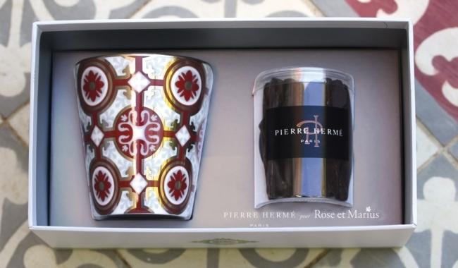 「ピエール・エルメ・パリ」 for 「ローズ エ マリウス」チョコレートとタンブラーのホリデーセット。